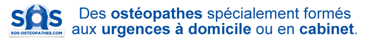 Des ostéopathes spécialement formés aux urgences à domicile ou en cabinet